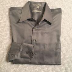 Men's 34/35 Geoffrey Beene Sateen Long Sleeve Button Down Shirt Wrinkle Free  | eBay