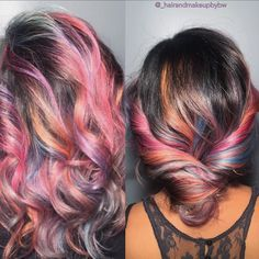 Pastel ombré by Bernadette Wilson of Statements the Salon