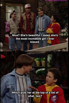 Boy Meets World - young Cory the smart ass was way better than the neurotic older version