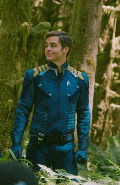 Chris Pine as Captain James Tiberius Kirk