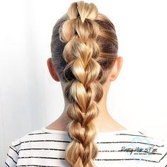 Pretty Hair is Fun: Pull Through Braid Pretty Hairstyles, Easy Hairstyles, Girl Hairstyles, Five Strand Braids, Fashion Gal, Tail Braids, Pretty Braids, Pull Through Braid, Back To School Hairstyles