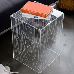 "Clear Acrylic Accent Table 12"" x 12"" x 18"""
