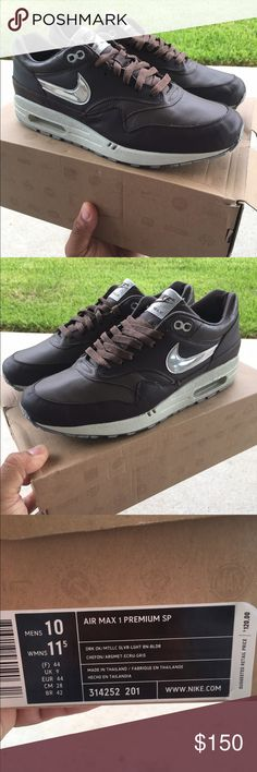 Nike air max 1 bronze medal pack 2008 Nike air max 1 from 2008 bronze medal pack size 10 men equivalent size 11.5 women with original box condition 9/10 Nike Shoes Athletic Shoes
