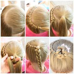 Half Crown Lace Braid   Hair Tutorial   Little Girl Hairstyles