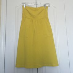 J. Crew strapless yellow dress Beautiful j.crew strapless bright yellow sporty dress, perfect condition, no wear, stains or tear J. Crew Dresses Mini