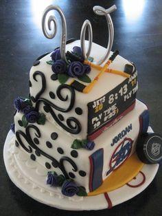 Formal/Hockey Wedding Cake