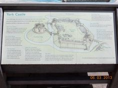 York Castle plaque