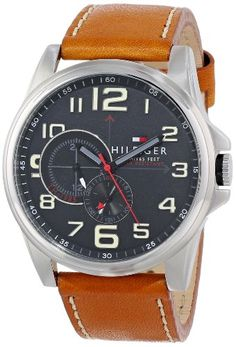 Tommy Hilfiger Men's 1791004 Stainless Steel Watch with Ta...
