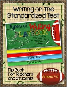 Types of Writing Playbook: Standardized Tests -For Teachers and Students free!