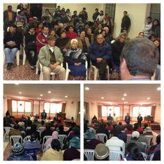 En La Paz, en Bolonia junto a vecinos y vecinas explicando la Visión País y escuchando sus preocupaciones.