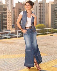#mulpix Duas paixões em uma única peça: saia longa e jeans! Isso sem contar que o cinto acompanha a saia! ❤️❤️  #verao  #joyalyfashion  #welovejoyaly  #instamoda  #fashion  #modaevangelica  #moda  #trends  #lançamento  #novidade  #summerinthecity