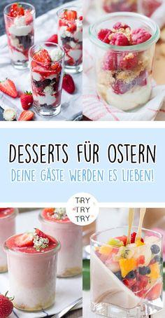 Osterdessert / Dessert für Ostern / Nachtisch für Ostern / Schichtdessert / Schicht-Dessert / Dessert im Glas