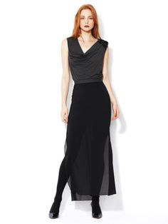 Robert Rodriguez Double Layer Silk Maxi Skirt
