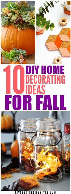 These DIY Fall Decorating Ideas is all you need to decorate your home for Fall season. Definitely pinning for later! Modern Fall Decor, Fall Home Decor, Autumn Home, Diy Home Decor, Holiday Decor, Thanksgiving Diy, Thanksgiving Table Settings, Autumn Activities For Kids, Dollar Tree Decor