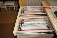 12 x 12 scrapbook paper storage in file drawer