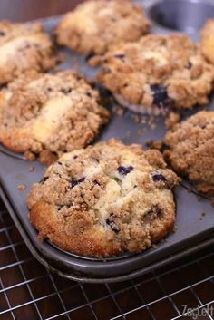 Big, bakery style Blueberry Muffins with a buttery crumb topping and loaded with juicy blueberries. The only blueberry muffin recipe you need!
