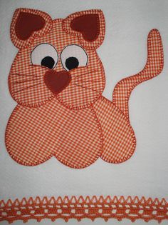 cuye kitty to applique onto a quilt block Applique Templates, Applique Patterns, Applique Quilts, Applique Designs, Machine Embroidery Designs, Quilt Patterns, Sewing Patterns, Fabric Crafts, Sewing Crafts
