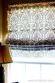cortina romana sin coser reutilizando vieja persiana