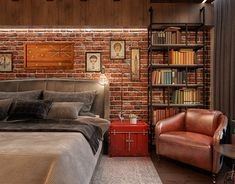 Luxury Rooms: Inspirations & Awesome Photos - Home Fashion Trend Room Interior, Home Interior Design, Brick Wall Bedroom, Exposed Brick Bedroom, Loft Interiors, Luxury Rooms, Home Decor Bedroom, Bedroom Kids, Home Decor Styles