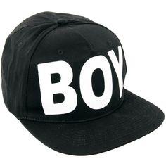 Boy London Boy Snapback Black Cap ($62) ❤ liked on Polyvore