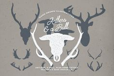 Smart Buys! Antlers and a Bull Illustrations starting from €3.20 See more. 🤓 #Logo #Deer #Vintage #Wildlife #Drawn #Antler #Animals #Hand #Graphics #Vector Pencil Illustration, Graphic Illustration, Illustrations, Font Combos, Creative Sketches, Paint Markers, Create A Logo, Business Card Logo, Watercolor And Ink