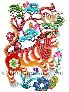 this is a beautifully colourful image of year of the tiger...(my zodiac symbol)