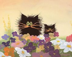 Scaredy Cats in the Garden