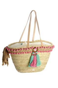 . Ibiza, My Bags, Purses And Bags, Beach Basket, Ethnic Bag, Straw Tote, Boho Bags, Craft Bags, Basket Bag