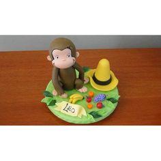 Jorge El Curioso -mono-adorno Torta-porcelana Fria-souvenirs - $ 300,00 en MercadoLibre