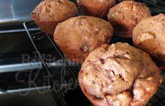 Vegan Chocolate Pecan Zucchini Muffins