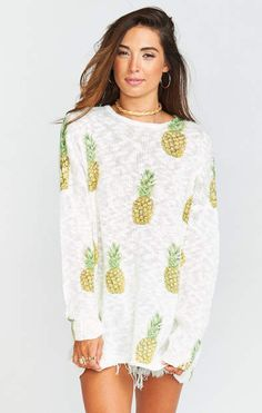 Varsity Sweater ~ Pineapple Paradise Knit $146.00 http://shopstyle.it/l/Eavi
