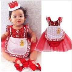"""GINGERBREAD ROMPER PRICE $10.99 OPTIONS: 0/6M, 6/12M, 12/18M, 18/24M, 2T To purchase: comment """"sold"""", size & email"""