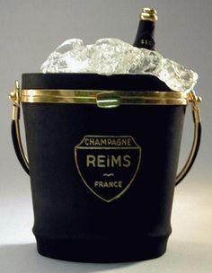 Vintage Anne-Marie Champagne Bucket Handbag, Inscribed Riems, France, c. 1940's…