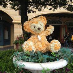 Duffy topiary at Tokyo Disney Sea Disney World Fl, Tokyo Disney Sea, Tokyo Disneyland, Disney Parks, Walt Disney, Topiary Garden, Garden Art, Disney Garden, Disney Theme