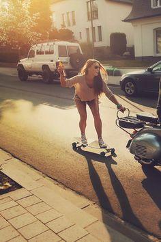 SK8... Skate girl... Skater Girls, Skates, Longboarding, Summer Fun, Summer Time, Fun Time, Boarders, Skateboard Girl, Skate Style