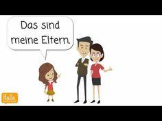 Lektion 3 Familienmitglieder vorstellen - YouTube