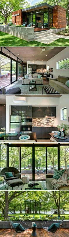 Container House The Cousin Cabana: a 480 sq ft cabin near Austin, Texas, designed for visiting friends and family Who Else Wants Simple Step-By-Step Plans To Design And Build A Container Home From Scratch? Building A Container Home, Container House Design, Tiny House Design, Garden Container, Cargo Container, Wooden House Design, Storage Container Homes, Cottage Design, Tiny House Living