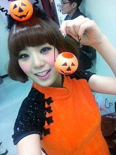 Lizzy~ ^_^ Kpop Halloween Costume, Orange Caramel, Carnival, Face, Random, Faces, Casual