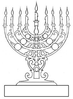 menorahs if it was metal then i found my menorah coloring for kidsfree coloring pagescoloring