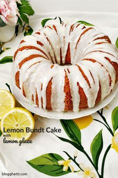 This recipe for a classic Lemon Bundt Cake with a tangy lemon glaze is perfect for any occasion. The cake is extra moist, fluffy and buttery. Everything you want in a cake plus the perfect lemony glaze. Lemon Desserts, Just Desserts, Delicious Desserts, Cupcakes, Cupcake Cakes, Lemon Bundt Cake, Pound Cake, Bunt Cakes, Crumb Cakes
