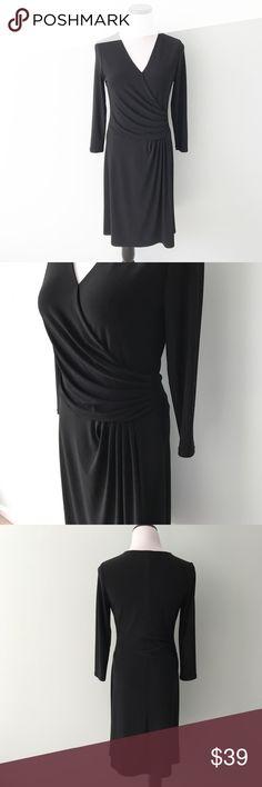 RALPH LAUREN Black faux wrap Dress Lauren Ralph Lauren Black faux wrap Dress. Polyester and elastane. Excellent condition. Size 4. Lauren Ralph Lauren Dresses