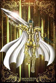 Capricorn El Cid - Saint Seiya The Lost Canvas Female Armor, Dark Moon, Epic Art, Zodiac Art, Itachi, Anime Comics, Concept Art, Saints, Deviantart