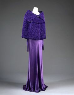 Paris, France. 1935 (made) Artist/Maker:  Jeanne Lanvin, born 1867 - died 1946 (designer) Materials and Techniques: Satin, machine-sewn