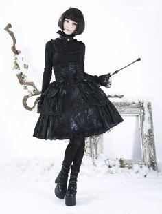 Jupe/serre-taille gothique lolita PYON PYON