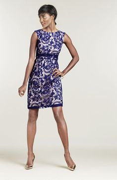 Graduation dress? Adrianna Papell Lace Overlay Sheath Dress (Regular & Petite) available at #Nordstrom