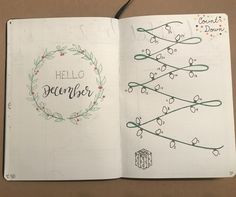 Hello December page and Count Down to Christmas Page Retry Bullet Journal