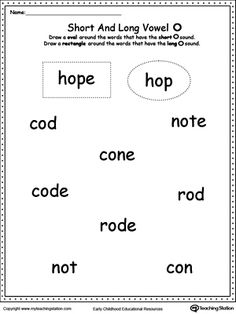 *FREE* Vowels: Short or Long O Sound Words: Use this printable worksheet to practice recognizing the short and long vowel O sounds.