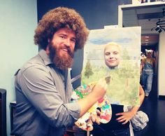 Cory Cooke as Bob Ross  Hollz n Rorschach It's All About Me http://itsallaboutmeeee.com