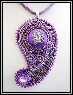 Pretty Purple Paisley от beadazzledbysandy на Etsy
