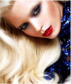 SuperModel Lisa Cooper retro glamour makeup if you are tat good u can shoot and change as much as you need to for pics Glamour Makeup, Beauty Makeup, Hair Beauty, 1970s Makeup, Disco Makeup, Perfect Red Lips, High Fashion Makeup, Beauty Book, Beauty Tips